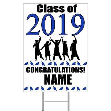 Amazon.com: Letrero azul de graduación 2019 (cada uno ...