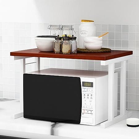 Garosh Estantes de horno de microondas de 2 pisos Tubo ...