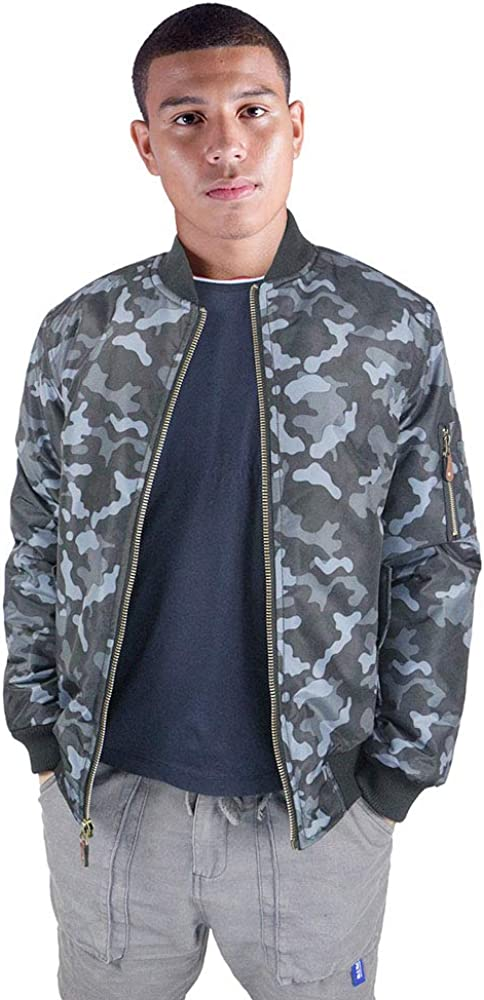 Mens Flight Bomber Jacket Casual Fall Winter Military Jacket Zip-Up Quilted Outdoor Coats
