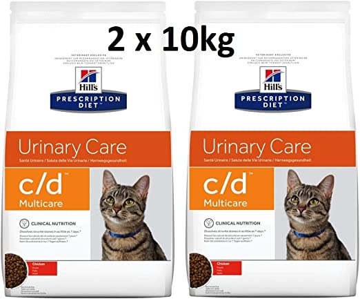 Hills Prescription Diet Feline c/d Multicare Chicken: 2 x 10 kg Pienso para gatos Veterinary Diets: Amazon.es: Productos para mascotas