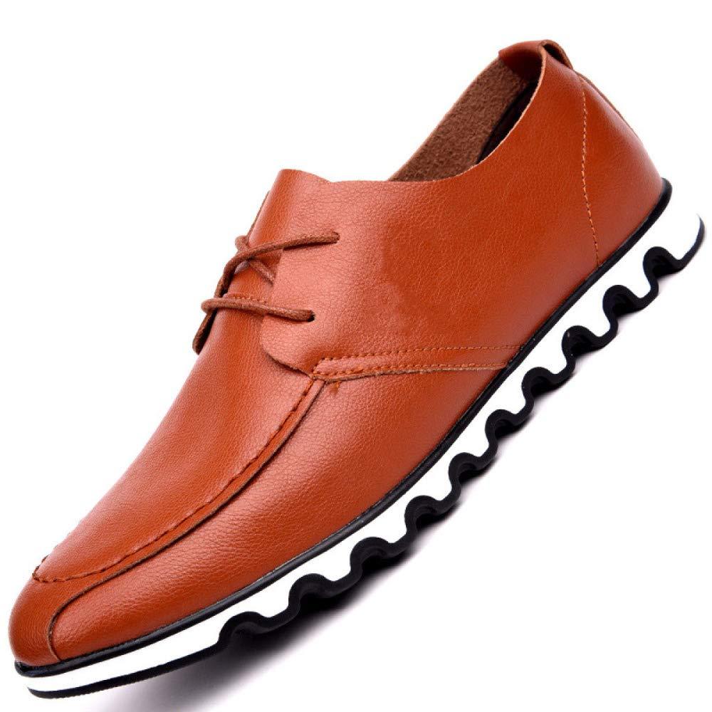 LYZGF Four Seasons Modelle Männer Business Freizeit Schuhe Business Spitze Mikrofaser Niedrig Zu Helfen