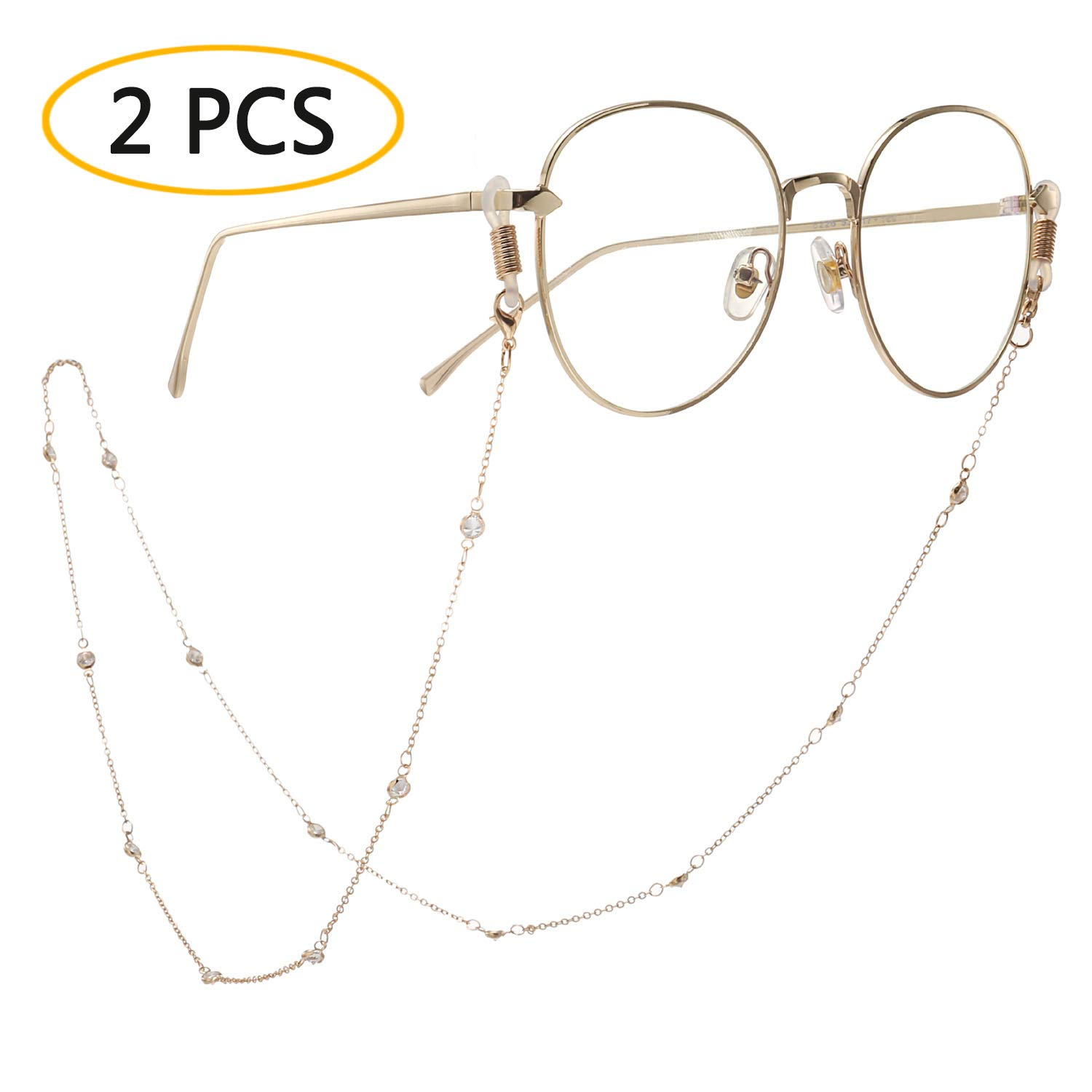 GoOpticians Classic Gold Traditional Fasten Glasses Cord Necklace Glasses Cord Spectacle Chain