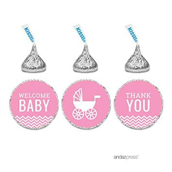 Amazon.com: andaz Prensa Rosa Chevron Chica Baby Shower ...