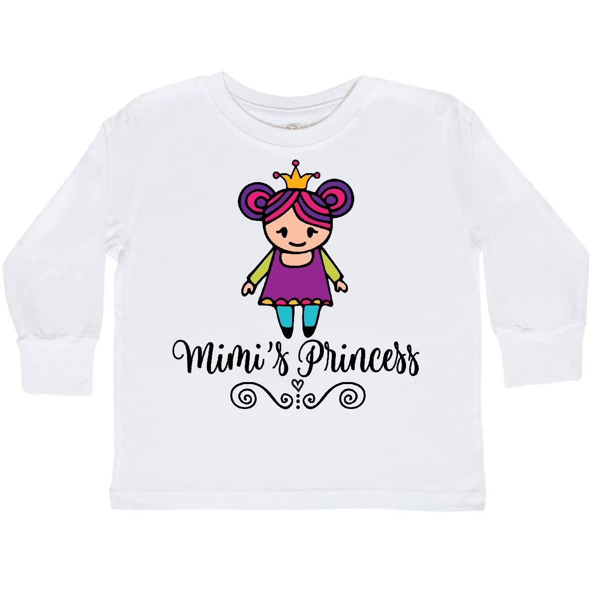 inktastic Mimi Princess Grandchild Girls Toddler Long Sleeve T-Shirt