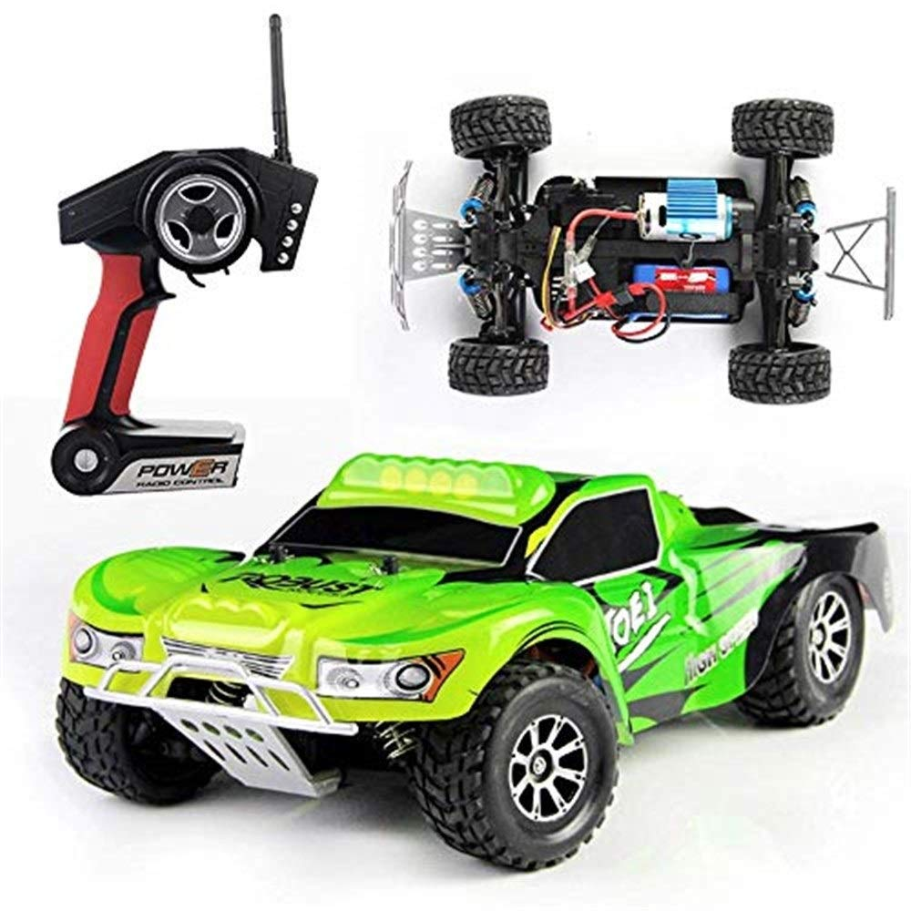 TGHYKCRAC3 Remote Control Car Electric Buggy 1/18 Scale Remote Control Car 2.4Ghz Radio Controlled All Terrain RC Rock Crawler Monster Truck 45KM/h High Speed Off-Road Best RC Racer Rc Cars for Kids