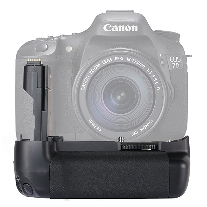 Neweer 10000290 - Empuñadura para Canon EOS 7D, Negro: Amazon.es ...