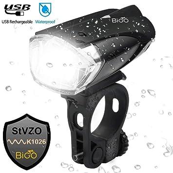 Stvzo Zugelassen Fahrradlicht Usb Wiederaufladbere Bigo Led Fahrradbeleuchtung Fitness & Jogging Bekleidung