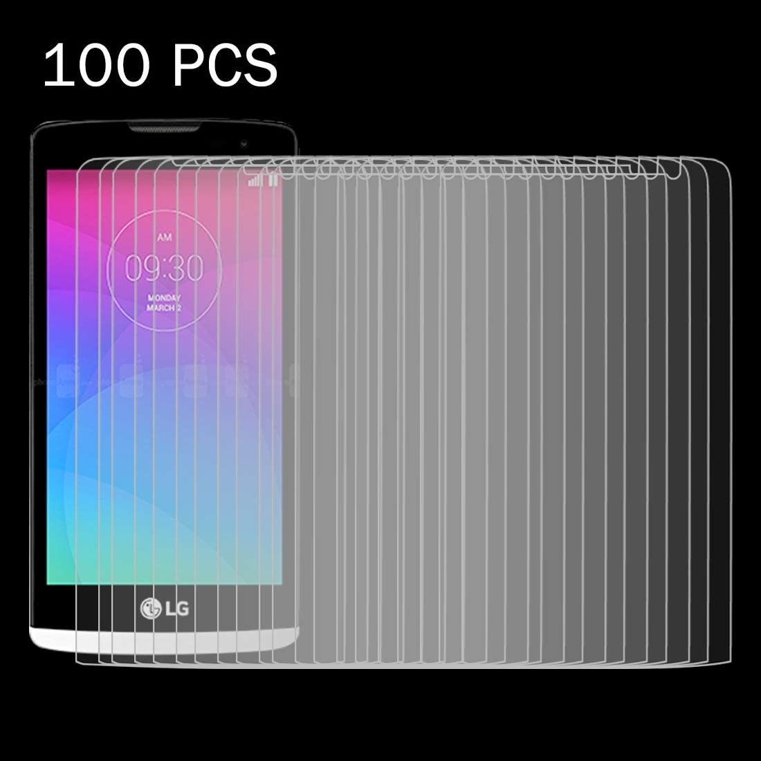 C40 0.26mm 9H Surface Hardness 2.5D Explosion-Proof Tempered Glass Film Tempered Glass Film Screen Protector Film 100 PCS for LG Leon
