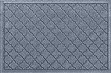 Bungalow Flooring Waterhog Indoor/Outdoor Doormat, 2' x 3', Skid Resistant, Easy to Clean, Catches Water and Debris, Cordova Collection, Bluestone