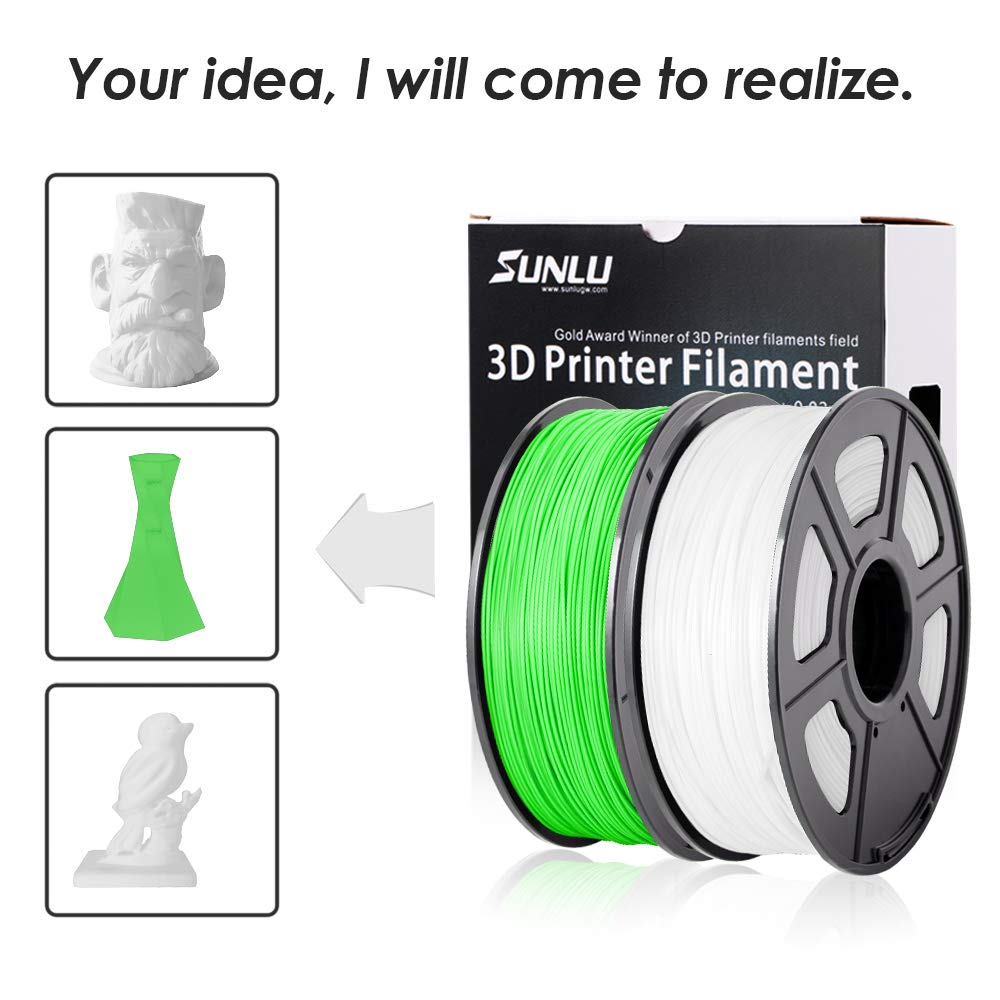 3D Printer PLA Filament 1.75 SUNLU Grass Green PLA Filament 1.75mm PLA Grass Green Fit FDM 3D Printer 1KG Spool Dimensional Accuracy +//- 0.02 mm