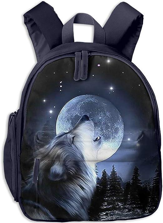 Animals School Book Bags Rucksack Backpacks Satchel for Girls Boys Wolf Panda