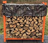 Woodhaven 5' Firewood Rack & Standard Cover - Brown