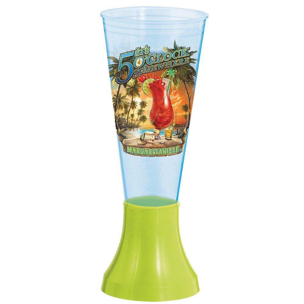 BirthdayExpress Margaritaville Plastic Drinking Glass