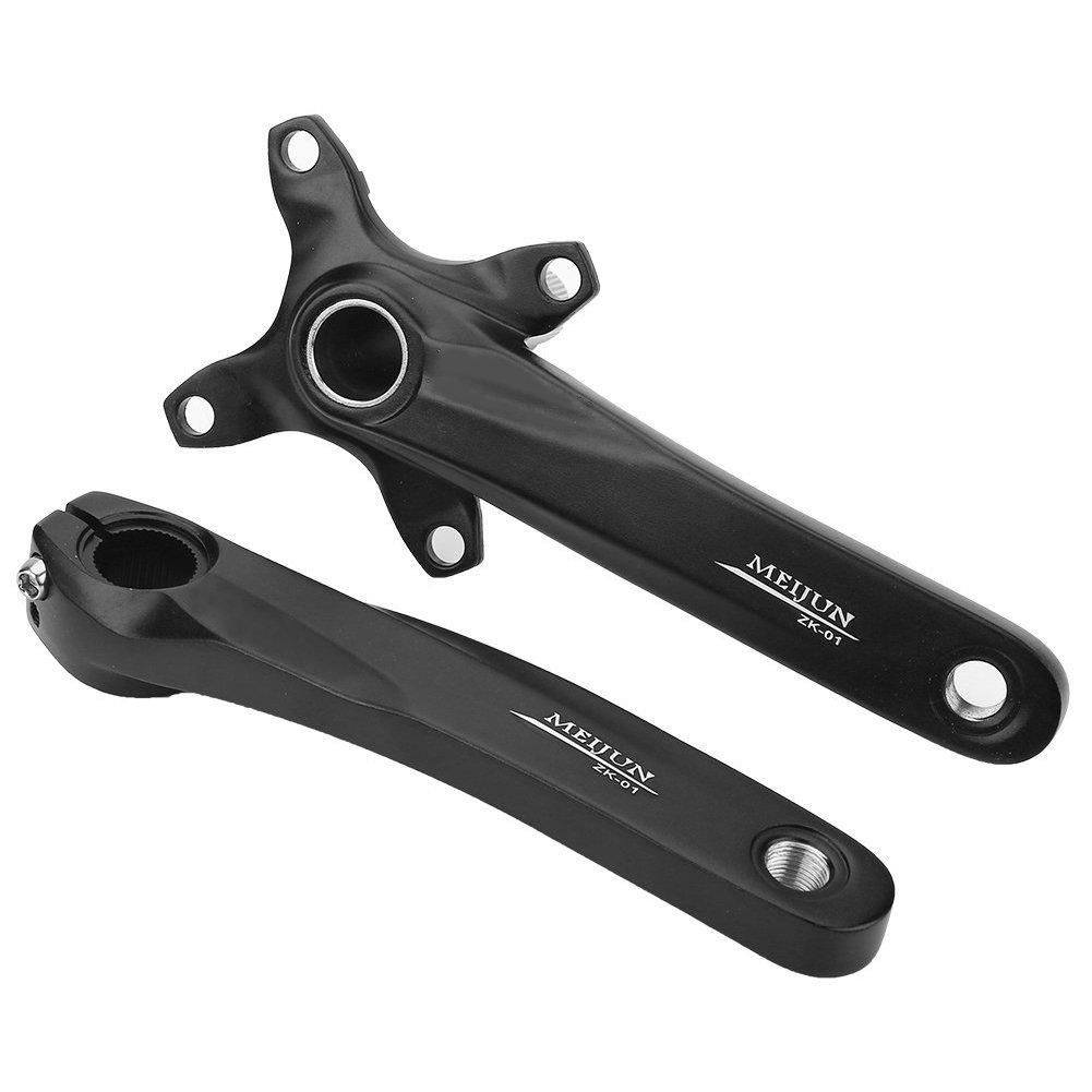 1ペアクランクArms Single Speed Crankset for自転車マウンテンロードバイクfor Shimano Sram Sunrun B074CT5WHDブラック