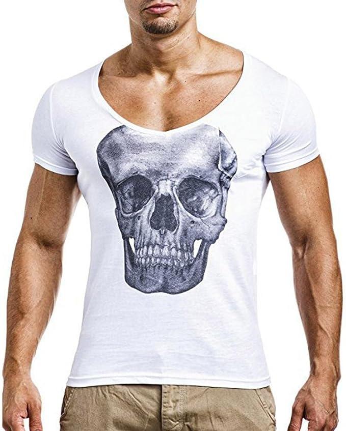 FAMILIZO Moda Camisetas Hombre Tallas Grandes Camisetas Hombre Tattoo Camisetas Manga Corta Hombre Camisetas Hombre Algodón Camisetas Hombre Verano Hombre Camisetas Hombre Largas Tops: Amazon.es: Ropa y accesorios