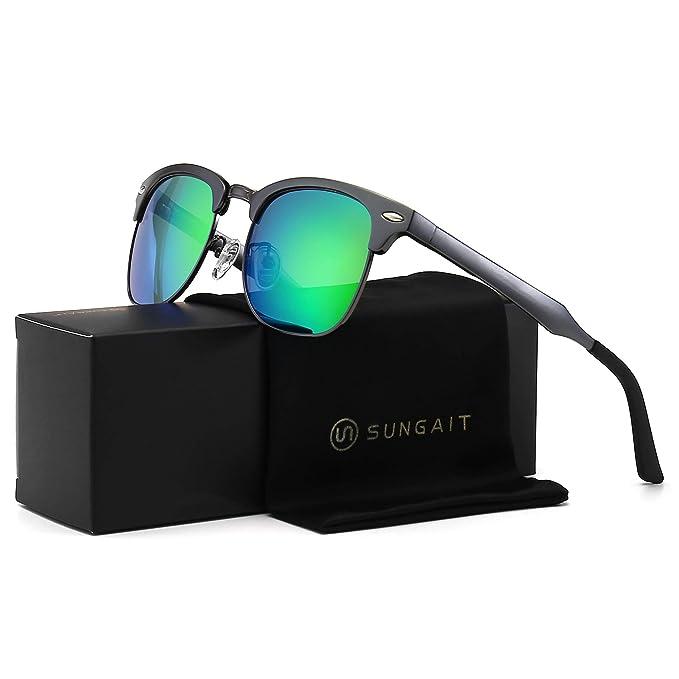 SUNGAIT Classic medio marco Clubmaster Gafas De Sol Con ...
