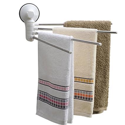 Toallero de baño/toallero con ventosa/ventosa de pared de cuatro barras giratorias/