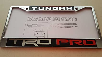 Toyota TUNDRA Truck TRD Pro Black Vinyl Decal Reverse Cut With Red PRO On  Chrome Metal