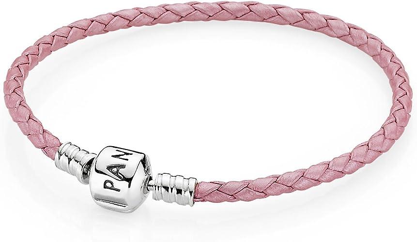 Pandora – Bracelet Bracelet en cuir rose 590705 CMP S: Amazon.fr ...