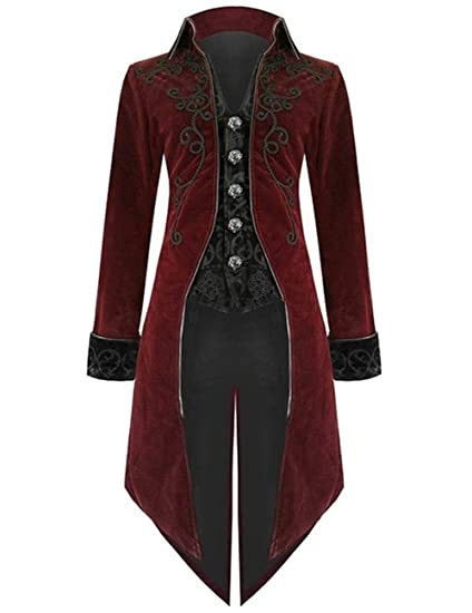 Women Renaissance Victorian Velvet Goth Steampunk Victorian Frock Coat//USA Size