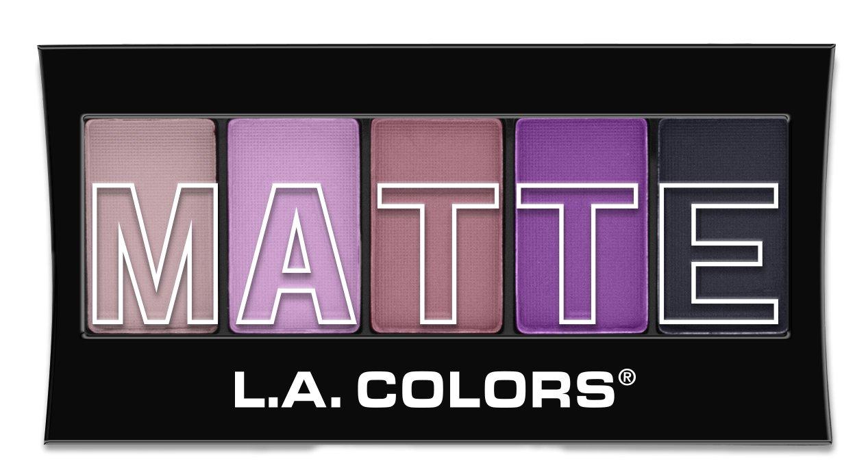 L.A. Colors 5 Color Matte Eyeshadow, Purple Cashmere, 0.08 Ounce Beauty 21 Cosmetics CEM473