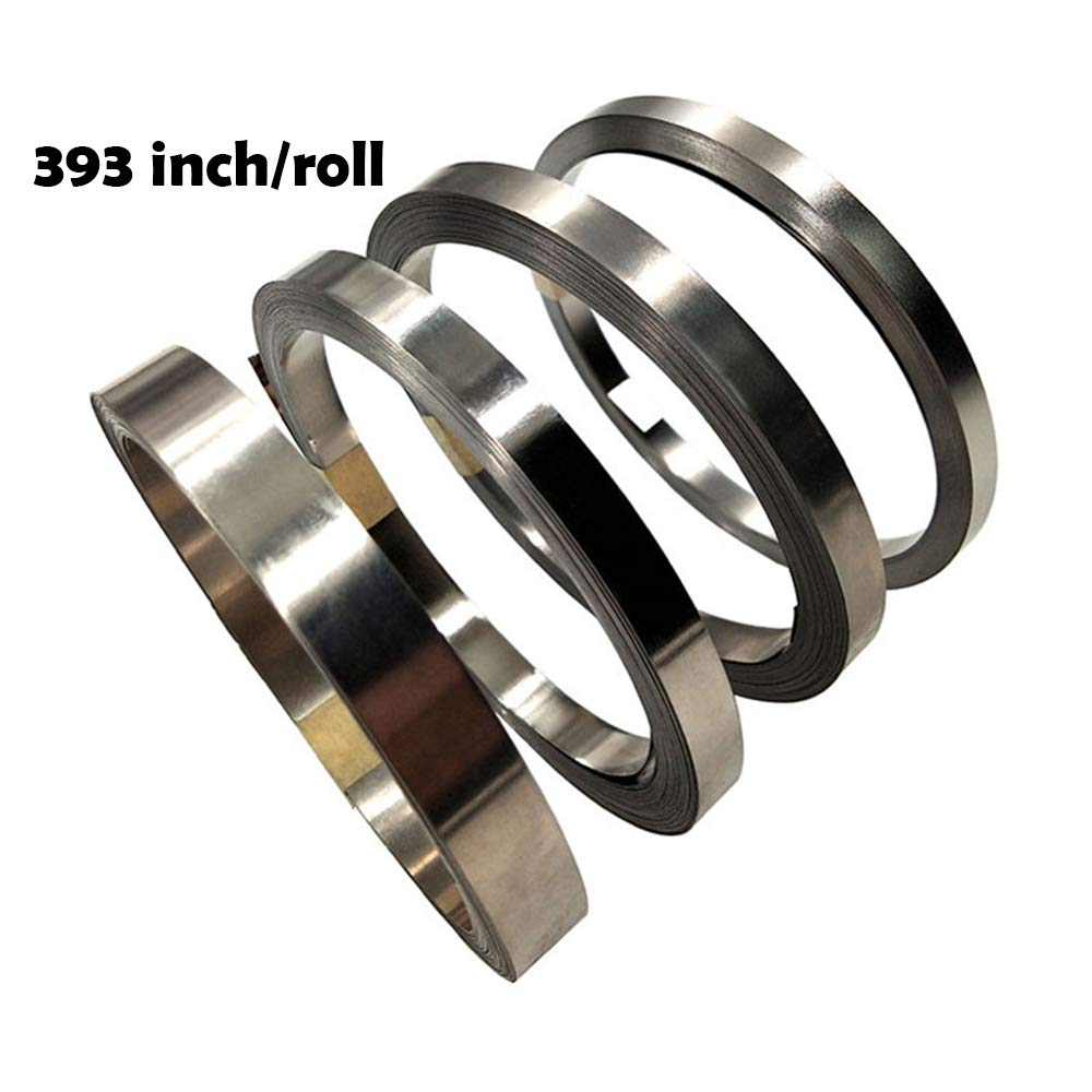 Pure Nickel Strip- 99.6% Nickel Strips for 18650 Soldering Tab for High Capacity Lithium, Li-Po Battery, NiMh and NiCd Battery Pack and Spot Welding 393inch/roll by ACQUA