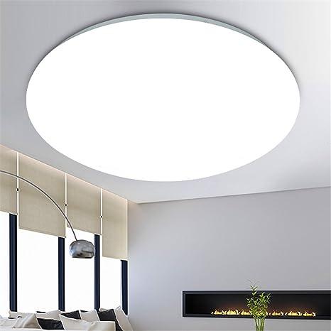 XUE Lámpara de techo Led Lámpara de dormitorio redonda baño ...