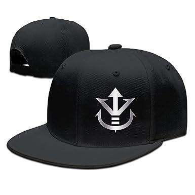 1de370106a3 Vegeta Dragon Ball Z Platinum Logo Baseball Snapback Hat Black ...