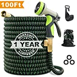 VIENECI 100ft Garden Hose Upgraded Expandable Hose, Durable Flexible Water Hose, 9 Function