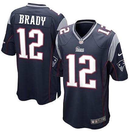 Amazon.com   NIKE Tom Brady New England Patriots Navy Blue Game ... 0b4d3f82873e