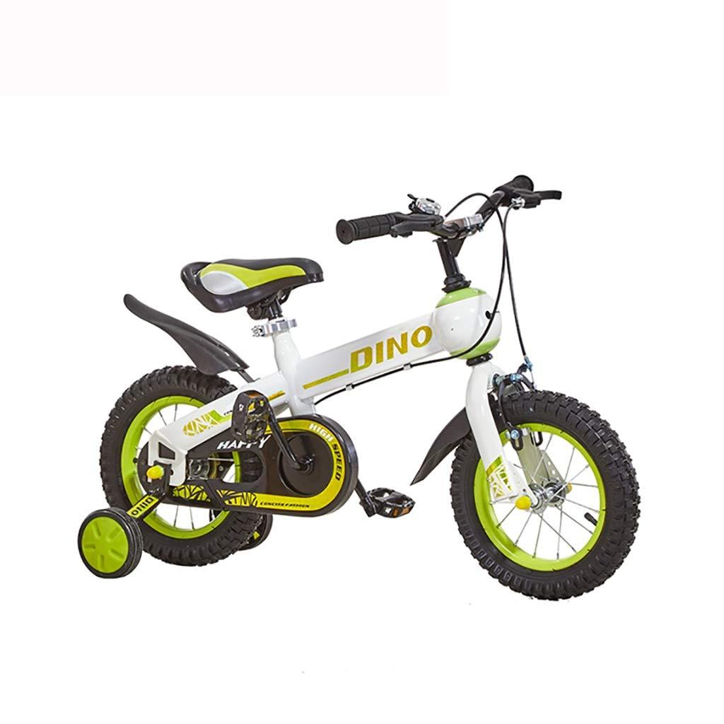 丈夫 子供の自転車3-4-5-6-8歳の男の子と女の子のハンドブレーキ、制御安全屋外 (色 : 緑, サイズ さいず : 16inch) 16inch 緑 B07RLQTP94