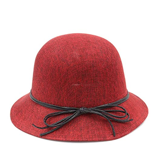 c47b3527e60 Spring and summer sun hat UV protection Beach bucket Hat Outdoor Sun Hat Sunscreen  Hat  Female small hat Breathable Liang Mao-B One Size at Amazon Women s ...