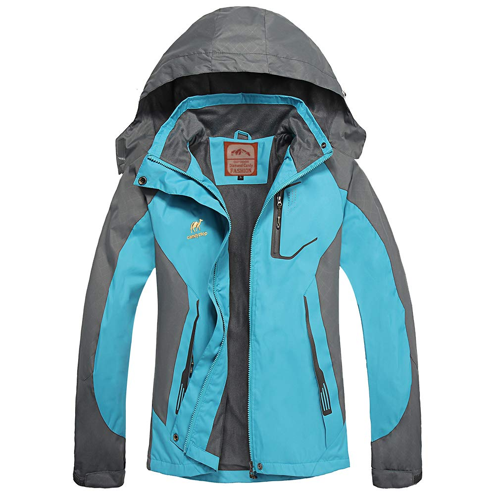 Diamond Candy Waterproof Rain Jackets Women Lightweight Ladies Jacket with Hood Softshell Coat for Hiking