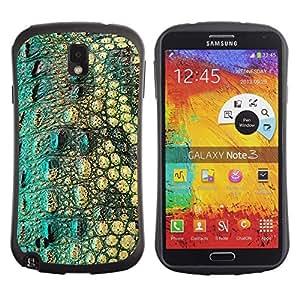 """Pulsar iFace Series Tpu silicona Carcasa Funda Case para Samsung Note 3 , Cocodrilo patrón de la piel del reptil Naturaleza"""""""
