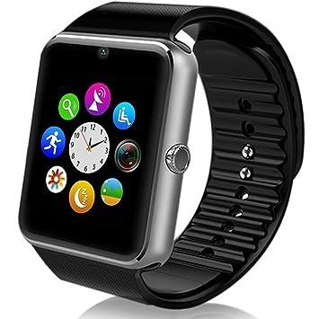 MallTEK Android Smartwatch Bluetooth con Tarjeta TF / SIM, Reloj Inteligente 1.54 Pulgadas con Cámara