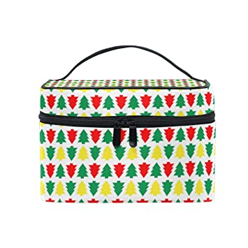 82385277f1b5 Amazon.com : Christmas Tree Mini RedPortable Cosmetic Toiletry Bags ...