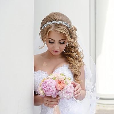 Bridal Rhinestone Crystal and Swarovski Pearl Wedding Headband