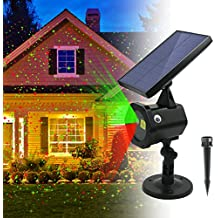 ezbnb Star Solar Laser Lights - New 2018 Solar Christmas Lights Red Green Dancing Lights -Waterproof Outdoor Laser Lights Projector with for Holiday, Party, Wedding, Disco
