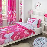 Textile Warehouse Butterfly Pink Polka Dot Girls Kids Childrens Duvet Quilt Cover Bedding Set Single