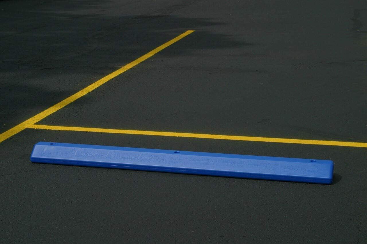 "Eagle 1790B Polyethylene Protective Parking Stop, 72"" Length x 8"" Width x 4"" Height, Blue"
