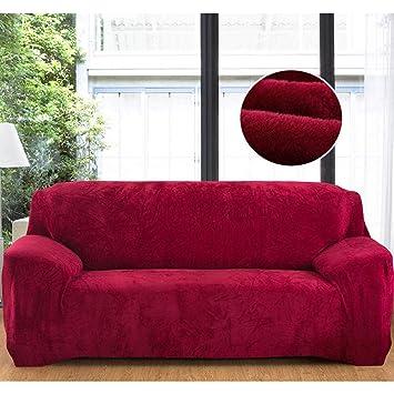 Amazon.com: Sofa Covers Retro 14 Colors Warm Thick Plush ...