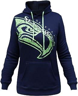 225739e35f3 Seattle Seahawks Women s Halfback Long Sleeve Hooded Sweatshirt.  49.99 ·  LockQ Womens Sporty Football Seahawks Sweatshirt Pullover Hoodie