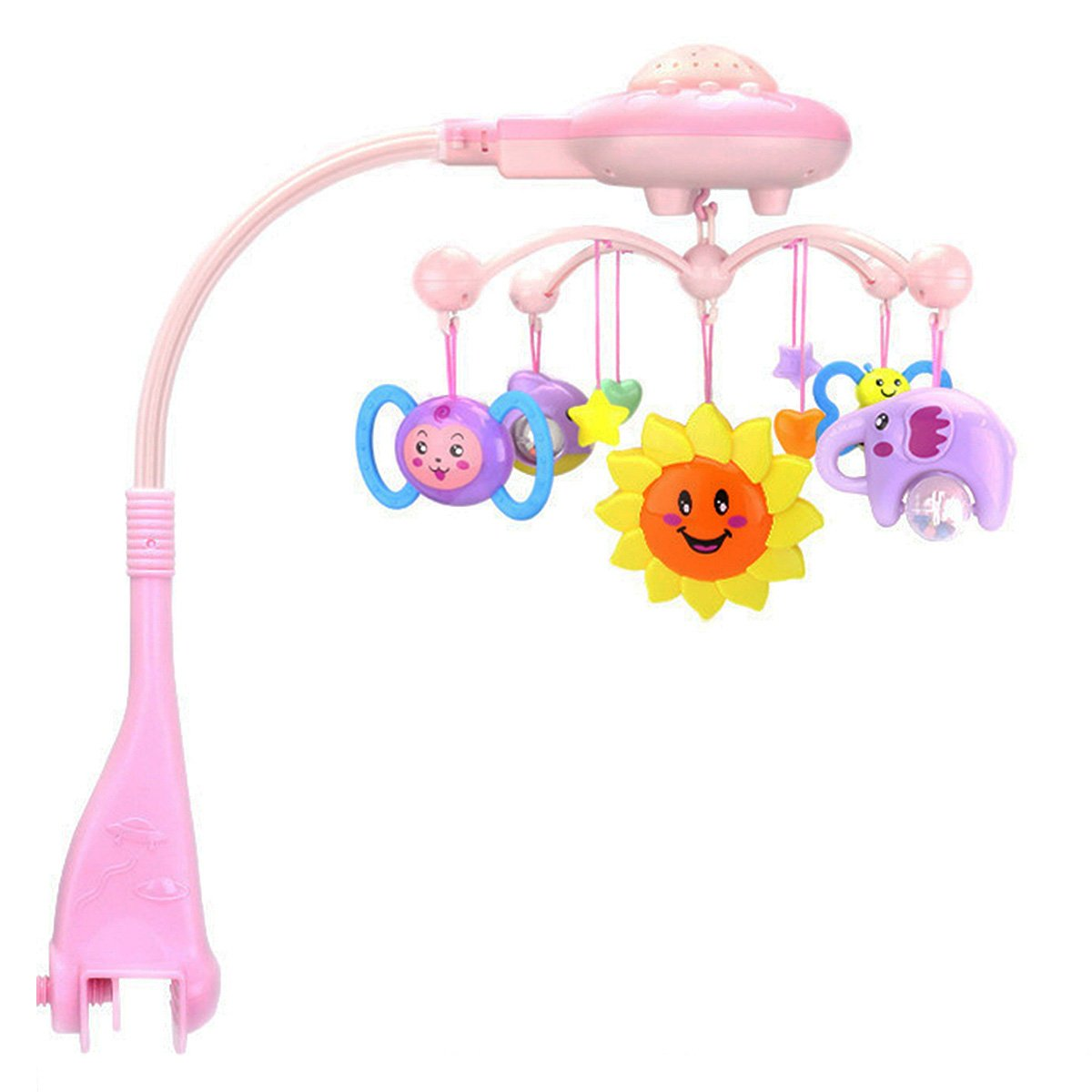 Kid Baby Musical Crib Bed Cot Mobile Stars Dreams Light Flash Nusery Lullaby Toy tradeonline6688