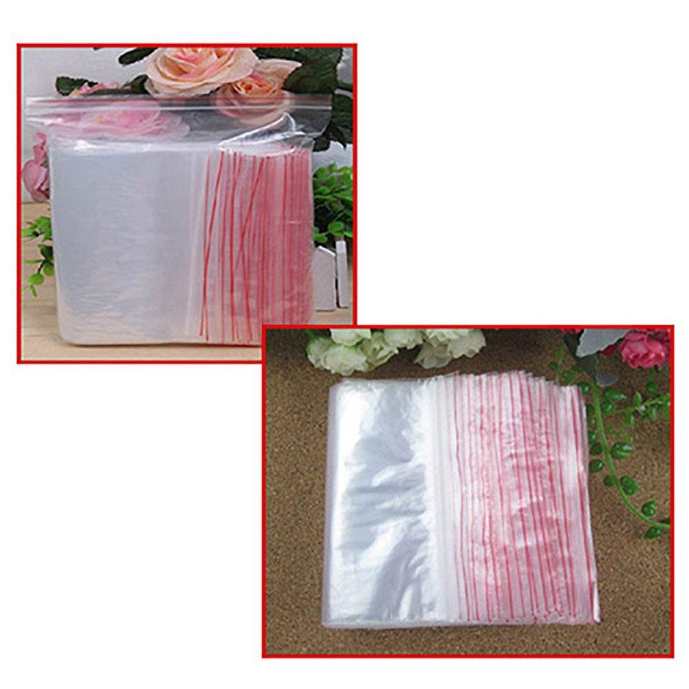 /5*7/cm DISPLAY08/100/pz Home Shop Accessories richiudibile spessore Seal Reclosable Ziplock bag/