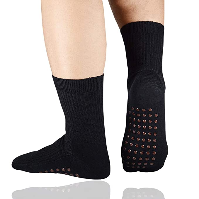Amazon.com: Calcetines de terapia de fibra magnética ...