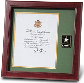product image for flag connections Go Army Presidential Memorial Certificate Frame with Medallion - 8 x 10 inch