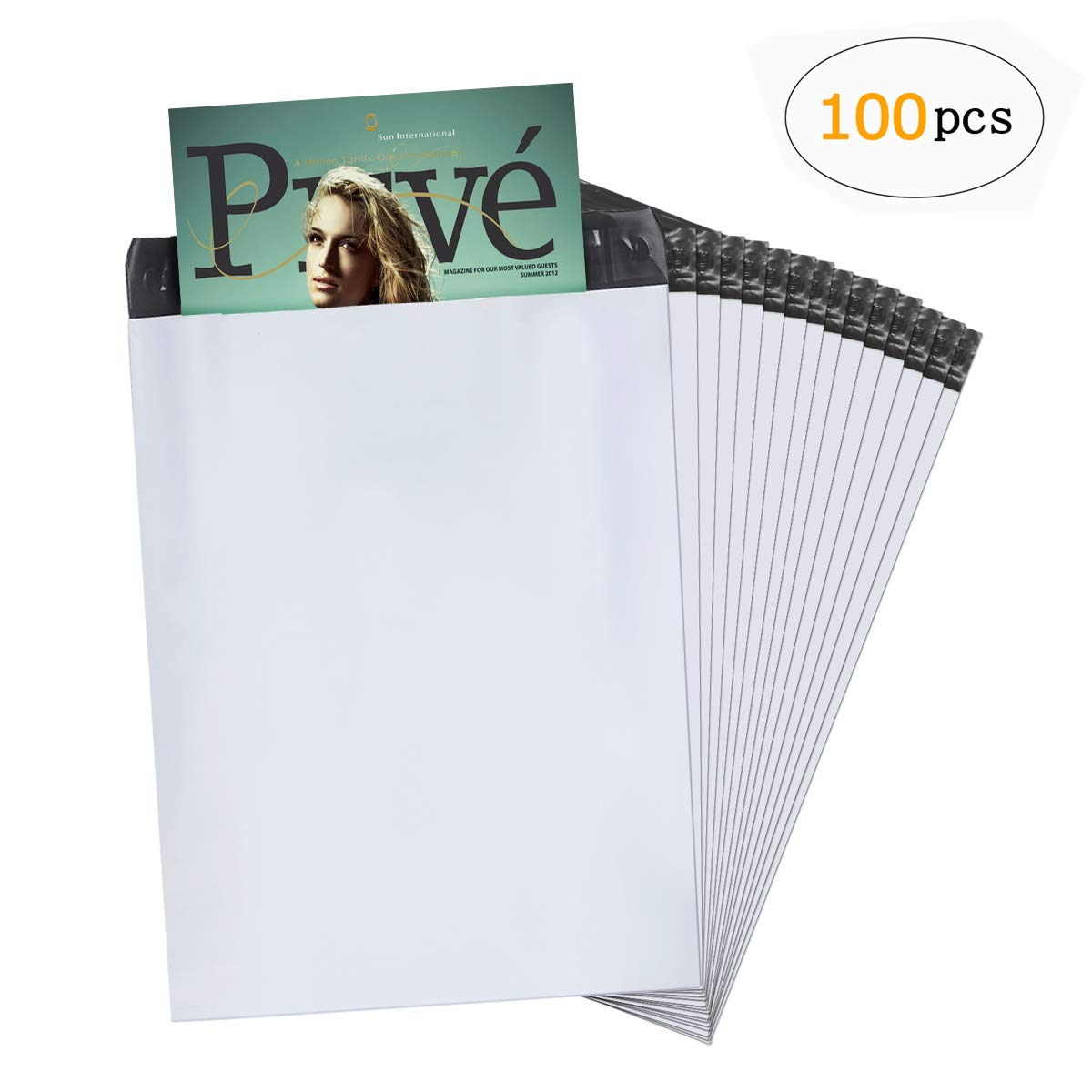 Plastic Polythene Mailing Postal Shipping Bags Self Seal Packing Packaging Postage Mail Sacks Envelopes Mailers Pack of 100 Pcs(17.7x12.59inch)