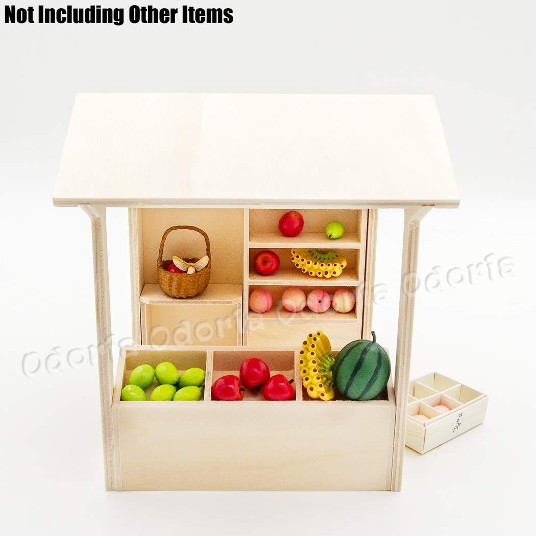 Odoria 1:12 Miniature DIY /Épicerie en Bois /à monter soi-m/ême Meubles de Maison de Poup/ées