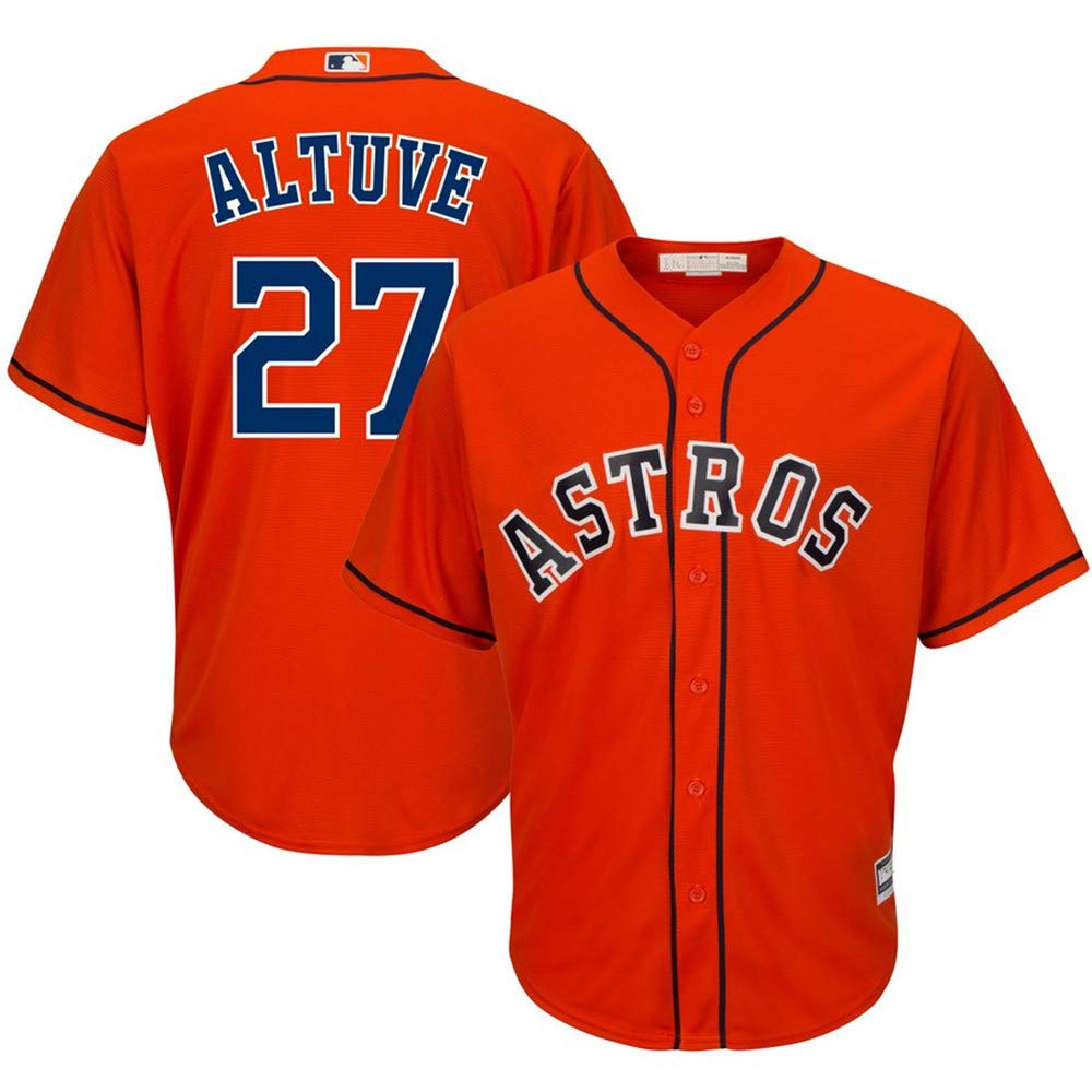 Mitchell & Ness Jose Altuve Houston Astros Cool Base Player Jersey #27- Orange XL by Mitchell & Ness (Image #1)