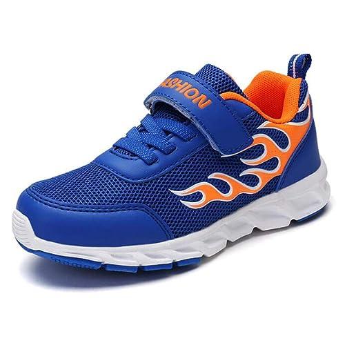 e433787addf99 Los niños Que corren Zapatos Deportivos para niños Moda Zapatillas de  Deporte Transpirable Chicos de la Escuela Zapatos de tamaño Grande para  niños  ...